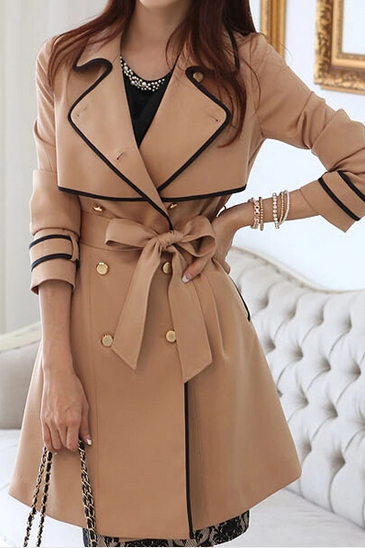 Slim Double-Breasted Coat Jacket