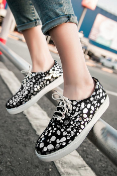 Sparkly Bling Black and White Sneakers