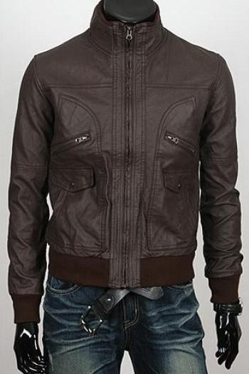 Handmade Custom New Men Slim Fit Rib Style Leather Jacket, men leather jacket, Leather jacket for men, Biker Leather Jacket, Motorcycle Jacket