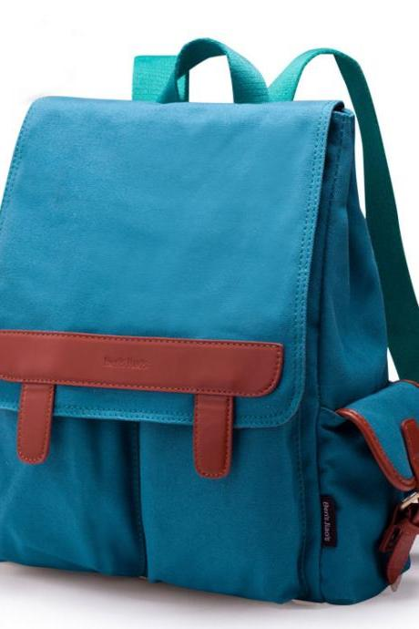 Cool Two Pockets Canvas Backpacks