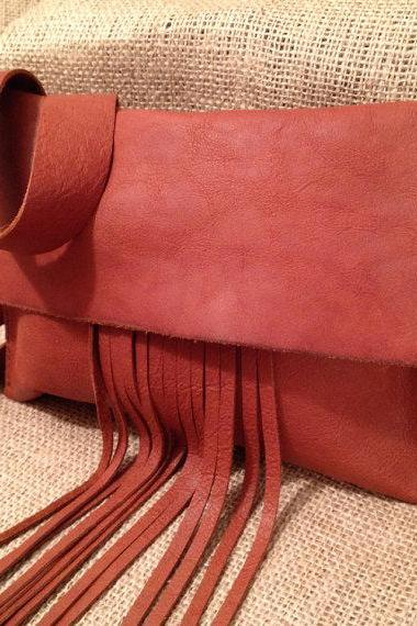 Small Saddle Tan Leather Satchel