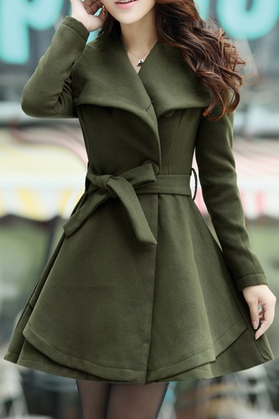 Special Designed Slim Trench-Coat AX112715ax