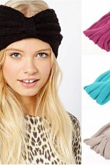 Classic handmade women knit headbands,Alice band,winter ear warm headwrap
