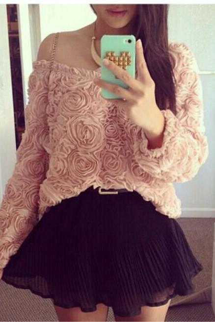 Flower Long Sleeve Shirt