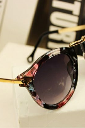 Retro colorful trendy woman sunglasses