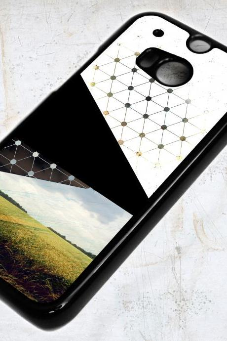 HTC One (M8) Abstract Collage Pattern Case