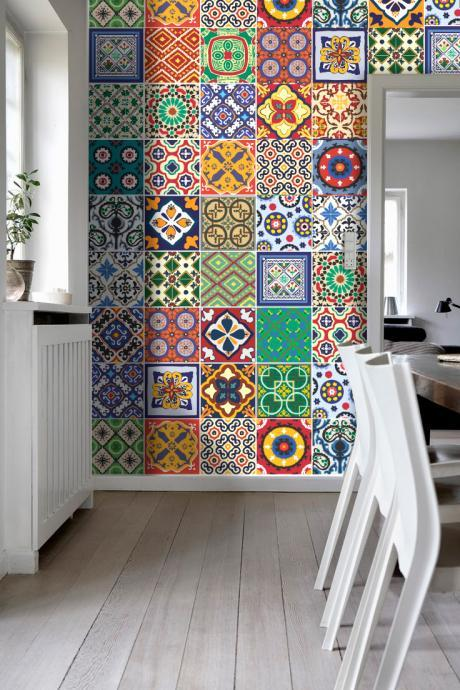 Tiles for Kitchen Remodelation Talavera Trendy Sticker Decor (Pack with 48) - 4 x 4 inches