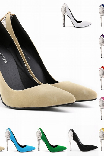 Tip Flannel Classic Ultra High Heels Stiletto Heels Flannel Shallow Mouth Women Shoe Shoes