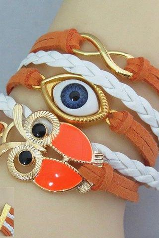 Chic Owl and Eye Shape Friendship Bracelet For Women