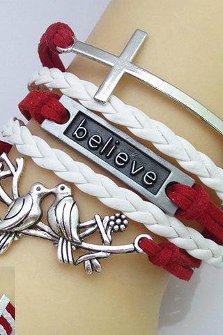 Believe Cross Charmed Bracelet