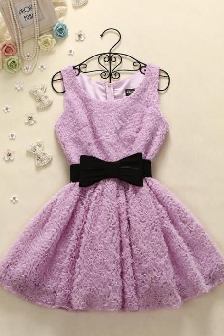 Bowknot Is Cultivate One's Morality Joker Vest Dress