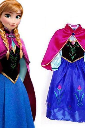Frozen Dress for Girls Princess Anna Outfit Frozen Dresses Ready to ship-RECEIVE IT AFTER 3 DAYS UPON PLACING YOUR ORDER