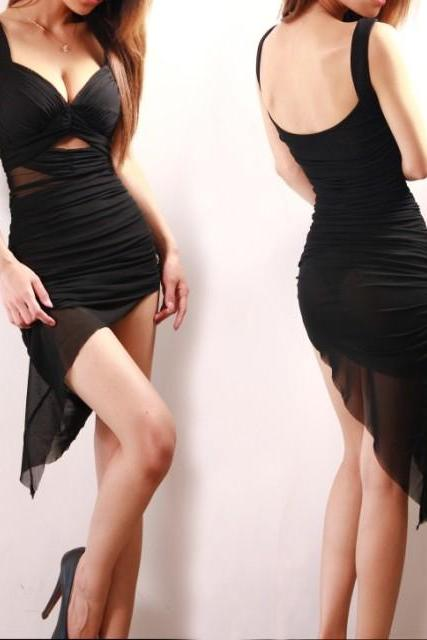 Irregular Hollow Sexy Dress AFBEBG