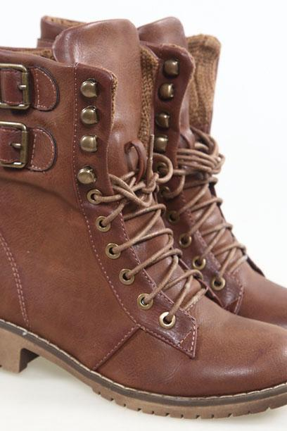 Fashion Brown Buckle Woman Martin Boots F46TVF8JLCVNP5DINVQSY