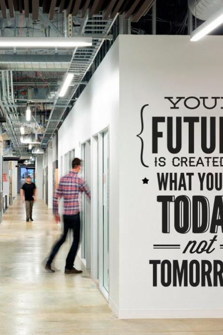 Wall Decal Quotes - Vinyl Quote Do It Today Not Tomorrow Wall Office Sticker Decor