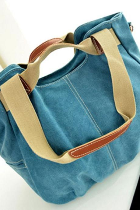 New Canvas Multi-Purpose Handbag&Shoulder Bag