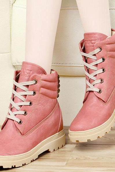 Rivet Leather Snow Boots