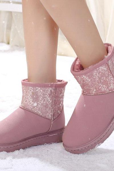 Waterproof Women Cotton Snow Boots