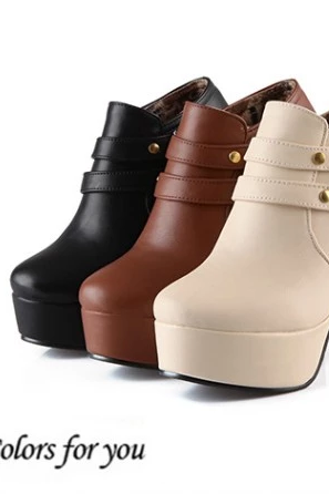 OL temperament deep mouth joker short boots for women's shoes