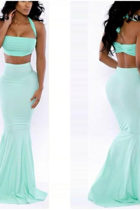 Gorgeous Two Piece Mermaid Dress
