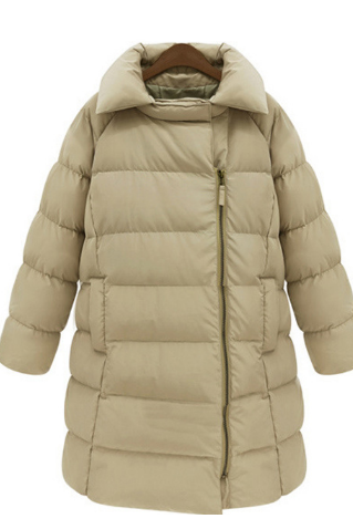 Europe and the United States women's new loose hooded cotton thickening in the long section of cotton padded jacket