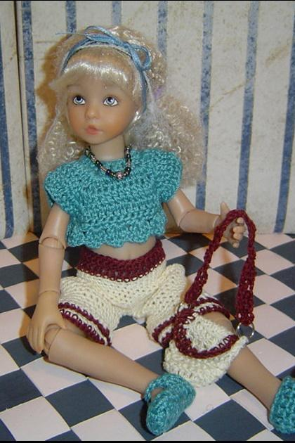 Shorts Set Pattern in PDF Crochet Little Darling Effner Ashton Drake Dolls 13Inch 0047