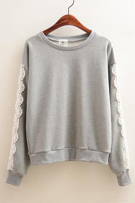 Hollow Lace Hedging Sweater