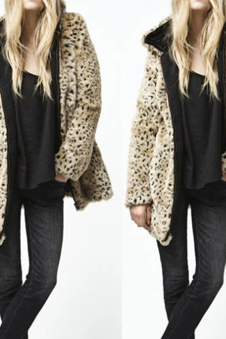 Fashion Leopard Fur Coat