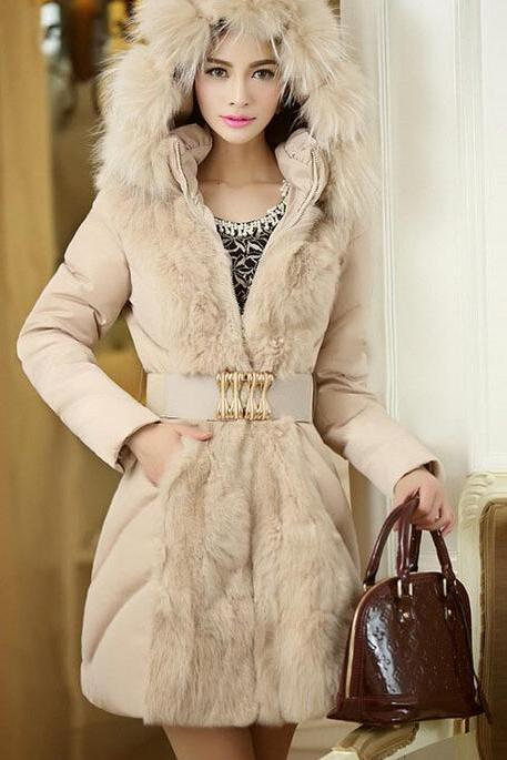 Fashion Warm Leather Jacket Coat