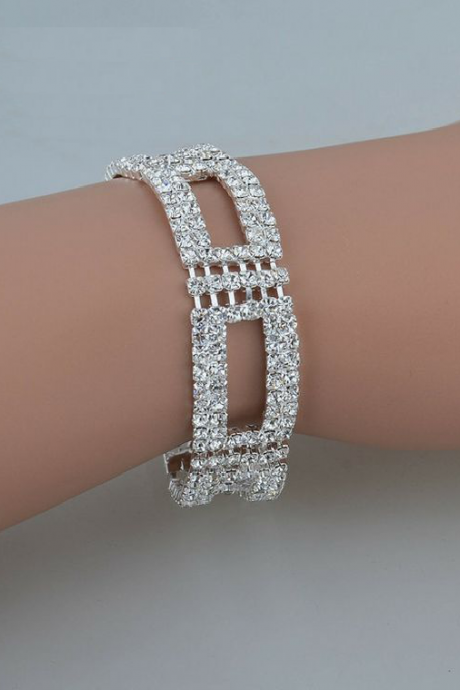 Rhinestone anniversary bangle woman bracelet