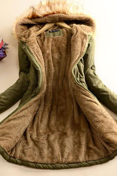 Hooded Long Winter Cotton Coat