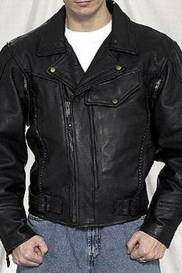 HANDMADE MENS LEATHER JACKET, BLACK BIKER LEATHER JACKETS, MEN'S BOMBER LEATHER JACKET