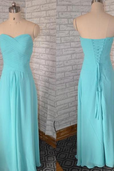 Blue Bridesmaid dress, Bridesmaid dress wth Lace up,simple Bridesmaid dress,Chiffon Bridesmaid dress,Cheap Bridesmaid dress,Elegant Bridesmaid dress,long Bridesmaid dress, long party dress,PQ1019