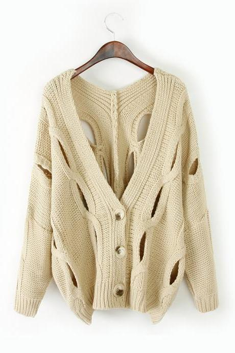 Fashion Knit V-Neck Sweater