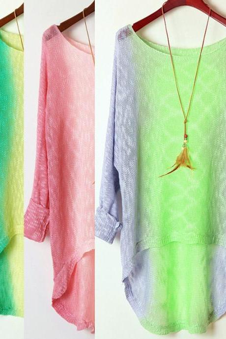 Retro -sleeved Tie-dye Gradient