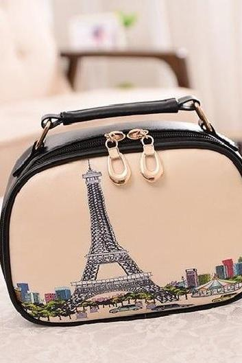 Eiffel towel messenger girl handbag