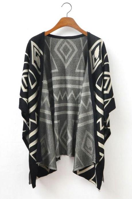 European Style Temperament Loose Knit Jacket
