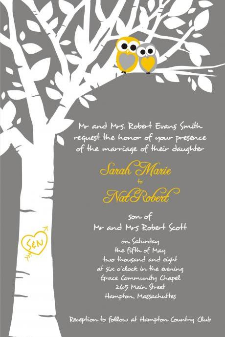 50 Custom Wedding Invitations and matching RSVP cards