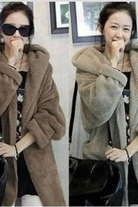Women's new autumn and winter warm loose cloak thickened Plush hoodies women