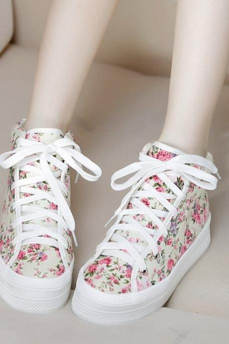 Canvas Floral Women Sneaker Shoes