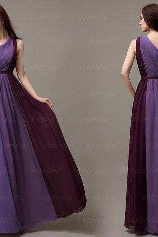 Gradient prom dress, chiffon prom dress, cheap prom dress, long prom dress, dresses for prom, prom dress 2015, affordable prom dress, CM058