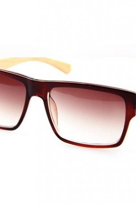 Wayfarer wood frame cool unisex fashion sunglasses