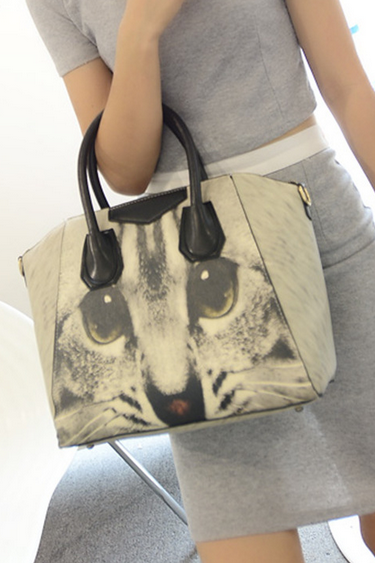 Fashion Handbag Graffiti Personality Cat Bag