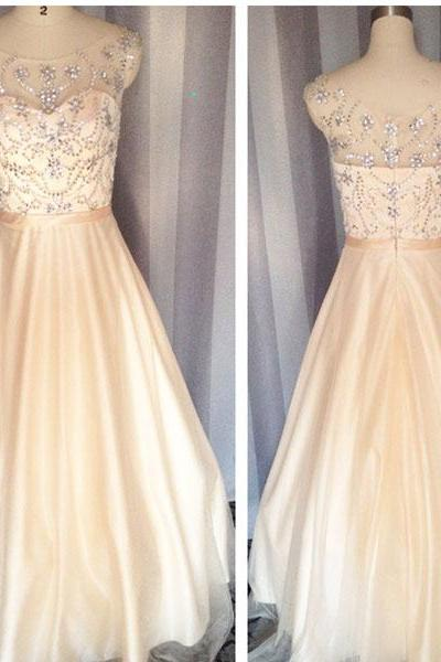 Champagne prom dress,Crystal Prom dress,Backless Prom dress, Formal Prom dress,Fashion Prom dress,Long Prom dress,Fashion Prom dress, Fashion Prom dress,Simple Prom Dress, vintage prom dress, long party dress ,Beaded evening dress