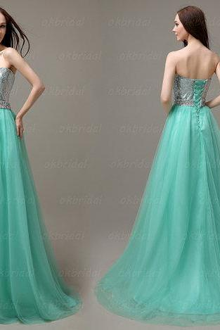 sequin prom dresses, mint prom dresses, tulle prom dresses, long prom dresses, affordable prom dresses, dresses for prom, CM091