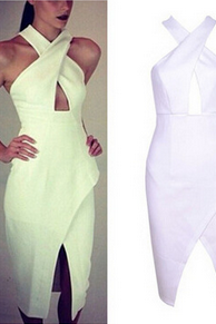Sexy bandage dress sexy ladies Halter Dress
