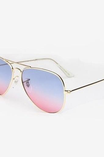 Rose- blue classy girl summer fashion sunglasses