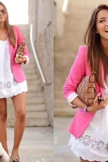 Candy Color Blazer Suit
