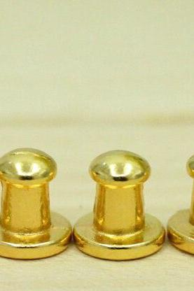 Leather Craft 5mm Head Screwback Button Stud Gold10sets DIY