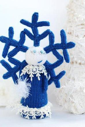 Snowflake Girl. Christmas and New Year Ornament. Home and office decoration.